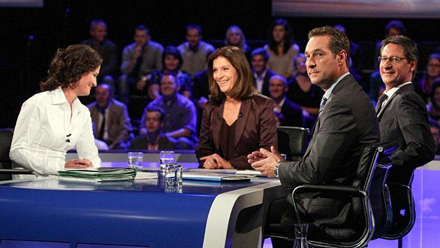 """ORF-Debatte: Pappkameraden ersetzten """"Elefanten"""" (Bild: ORF/Milenko Badzic)"""