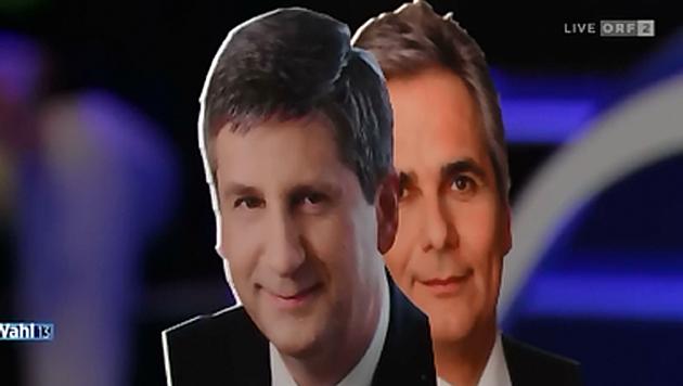 """ORF-Debatte: Pappkameraden ersetzten """"Elefanten"""" (Bild: ORF)"""