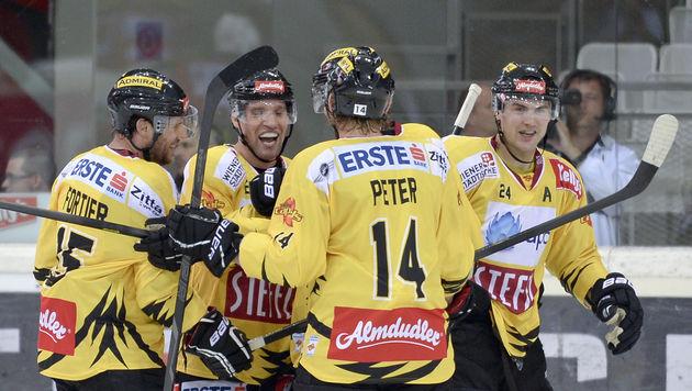 Capitals festigen mit Sieg in Znojmo Platz 1 (Bild: APA/HERBERT NEUBAUER)
