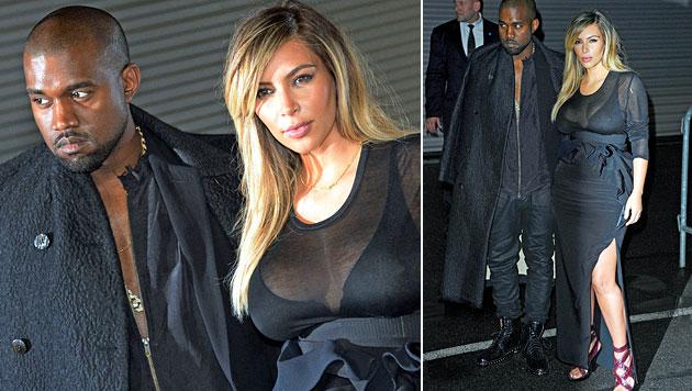 Kim Kardashian: Erster Auftritt nach der Geburt (Bild: AFP, AP)