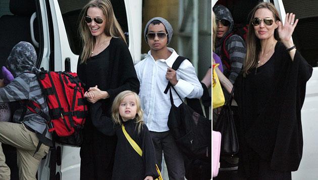 Haben Jolie und Pitt bereits heimlich geheiratet? (Bild: EPA)