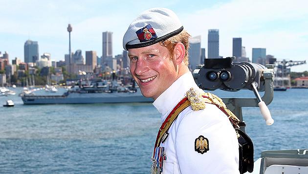 Pompöse Schiffsparade für Harry in Australien (Bild: EPA, AP)