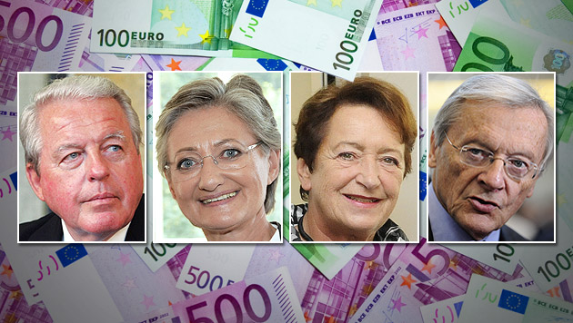 Heftiger Wirbel um Luxus-Pensionen für Politiker (Bild: thinkstockphotos.de, APA, krone.at-Grafik)