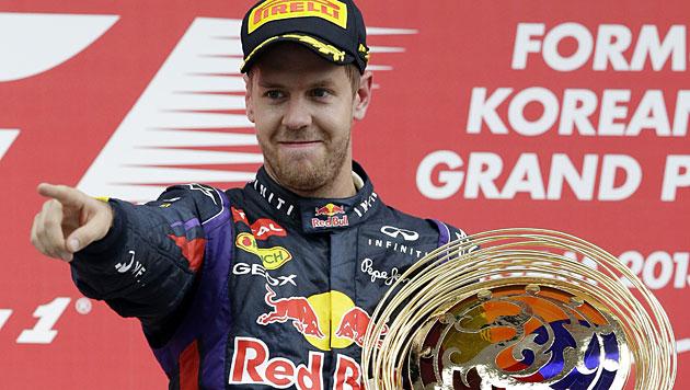 Vettel gewinnt zum 3. Mal in Folge GP von Südkorea (Bild: AP)