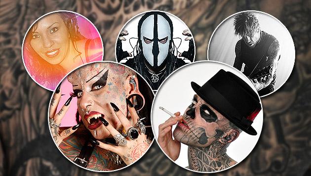 Tattoo-Messe wartet mit DJ-Szenegrößen auf (Bild: Wildstyle, Colin R. Singer, krone.at-Grafik)