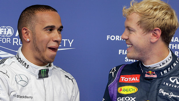 "Hamilton: ""Sebastian ist ein großartiger Champ"" (Bild: AP, krone.at-Grafik)"