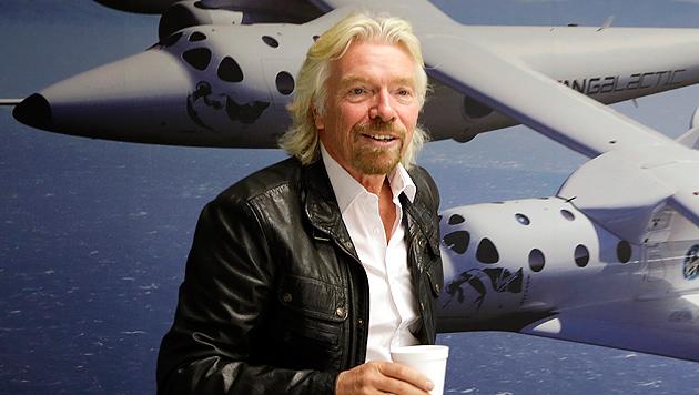 Milliardär Richard Branson auf Besuch in Wien (Bild: AP)