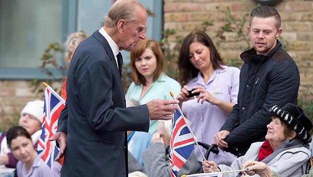 Prinz Philip in Seniorenheim einer der Ältesten (Bild: EPA)