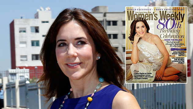 "Prinzessin Mary posiert barfuß auf Magazin-Cover (Bild: Women""s Weekly, AP)"