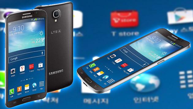 Samsung zeigt erstes krummes Smartphone der Welt (Bild: Samsung, krone.at-Grafik)