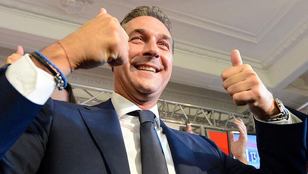 Gewinnt Strache die EU-Wahl 2014? (Bild: APA/Helmut Fohringer)