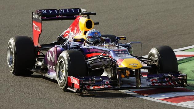 Vettel gewinnt, ist aber noch nicht Weltmeister (Bild: EPA)