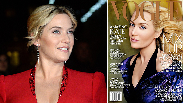 "Kate Winslet: Photoshop-Desaster auf ""Vogue""-Cover (Bild: EPA, Vogue)"