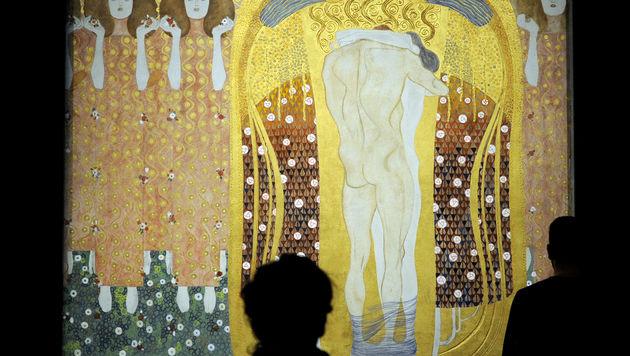 """Klimts """"Beethovenfries"""" bleibt in Österreich (Bild: APA/ROLAND SCHLAGER)"""