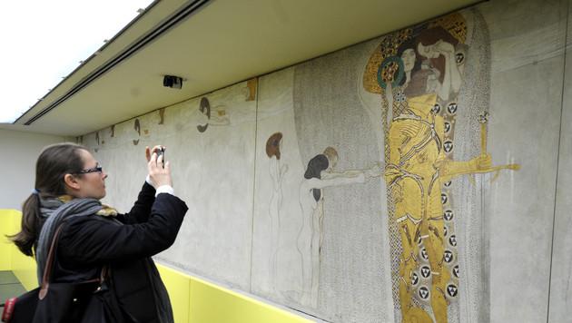 """Klimts """"Beethovenfries"""" bleibt in Österreich (Bild: APA/ROBERT JAEGER)"""