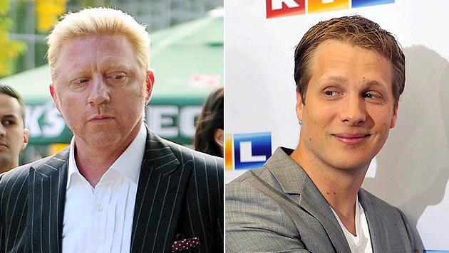 Boris Becker und Oliver Pocher: Duell in TV-Show (Bild: EPA)