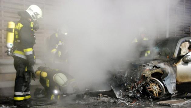 Erneut Fahrzeug auf der A2 in NÖ ausgebrannt (Bild: HERBERT WIMMER/PRESSESTELLE BFK MÖDLING)