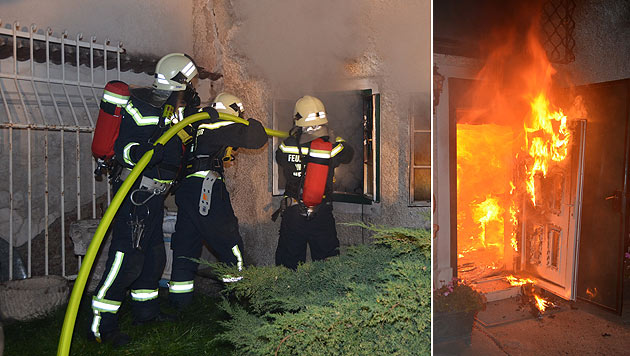 NÖ: Ein Verletzter bei Brand in Antiquitätenladen (Bild: Lukas Derkits/Pressestelle BFK Mödling)