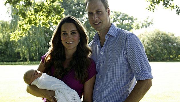 Am Mittwoch wird Prinz George getauft (Bild: AP)