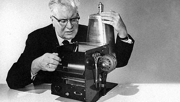 Der Fotokopierer feiert seinen 75. Geburtstag (Bild: dpa/Xerox Deutschland GmbH)
