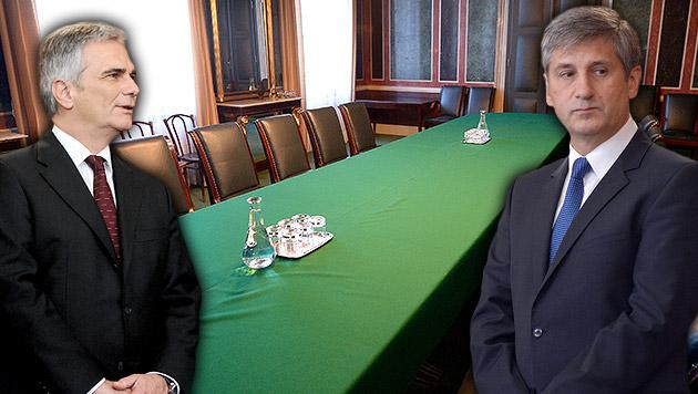 Koalitionspoker beginnt im Schneckentempo (Bild: APA/ROBERT JÄGER, APA/ROLAND SCHLAGER, krone.at-Grafik)