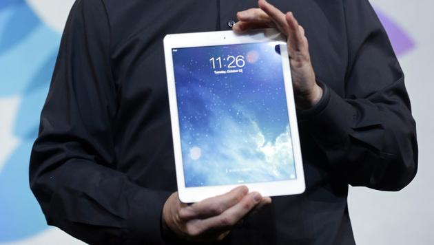 Apple trotz Absatzrückgang bei Tablets führend (Bild: AP)