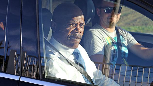 Filmstar Samuel L. Jackson auf Kurzbesuch in Graz (Bild: Sepp Pail)