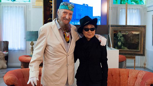 Ernst Fuchs und Yoko Ono unter einem Dach (Bild: Andreas Graf)