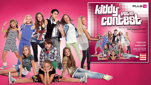 """Kiddy Contest 19"": Zehn tolle Kids auf einer CD (Bild: Kiddy Contest, Sony Music, krone.at-Grafik)"