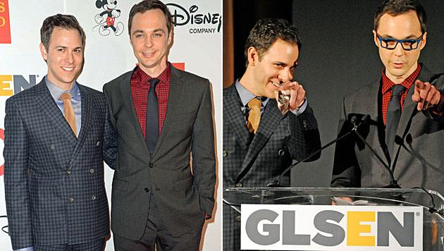 """Big Bang Theory""-Star Parsons zeigt seinen Freund (Bild: AFP)"