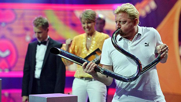 So irr matchen sich Becker und Pocher im TV (Bild: (c) RTL/Willi Weber)