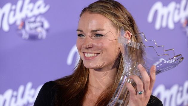"""Tina Maze heimst """"Skieur d""""Or""""-Auszeichnung ein (Bild: EPA)"""