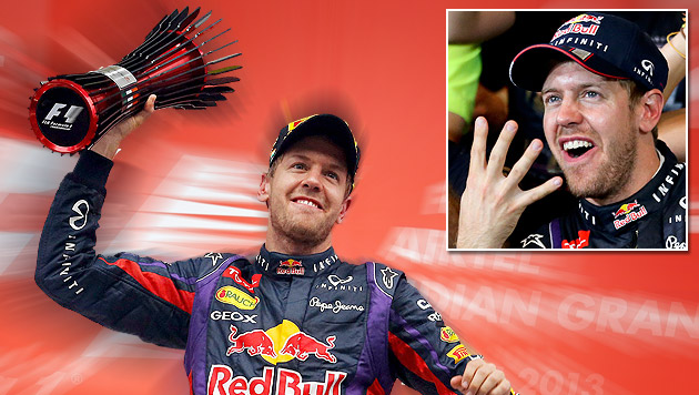 """Vettel: """"Es fühlt sich ziemlich besonders an"""" (Bild: EPA, krone.at-Grafik)"""