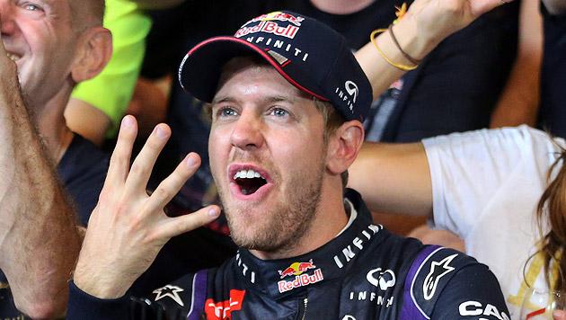 Vettel ist zum 4. Mal in Serie Formel-1-Champion (Bild: EPA)