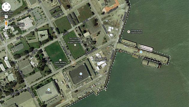 Baut Google schwimmendes Datenzentrum in US-Bucht? (Bild: Screenshot Google)