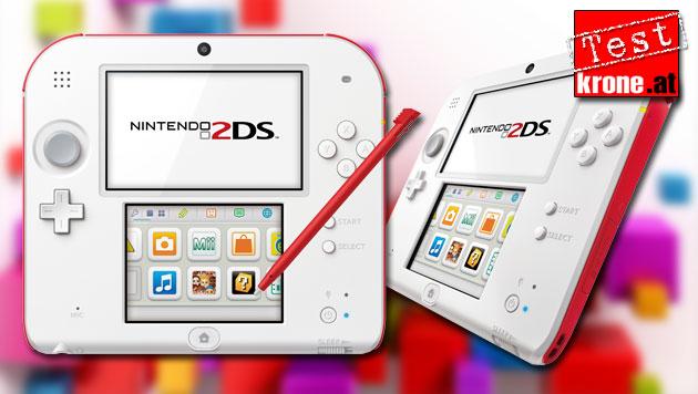 Das kann Nintendos neuer Spiele-Handheld 2DS (Bild: Nintendo, thinkstockphotos.de, krone.at-Grafik)