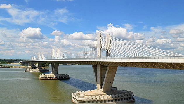"""Donaubrücke """"Neues Europa"""" droht der Zusammenbruch (Bild: APA/KLIMENT HRISTOV, krone.at-Grafik)"""