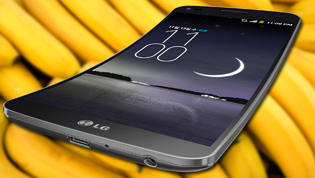 """LG stellt selbstheilende """"Smartphone-Banane"""" vor (Bild: thinkstockphotos.de, LG, krone.at-Grafik)"""