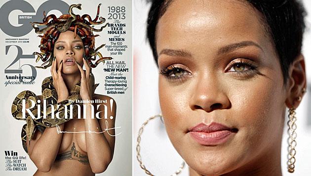 "Rihanna als nackte Medusa auf ""GQ""-Cover (Bild: GQ, AP)"