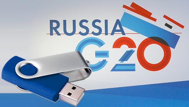Hat Russland Staaten mit USB-Sticks ausspioniert? (Bild: EPA, krone.at-Grafik)