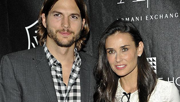 Moore & Kutcher: Scheidungspapiere unterschrieben (Bild: AP)