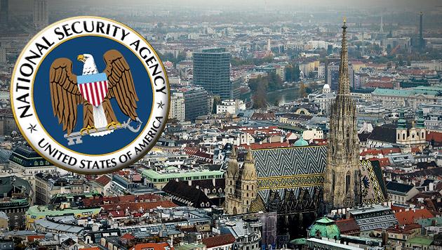 Speichert NSA gesamte Kommunikation Österreichs? (Bild: APA/HERBERT NEUBAUER, krone.at-Grafik)