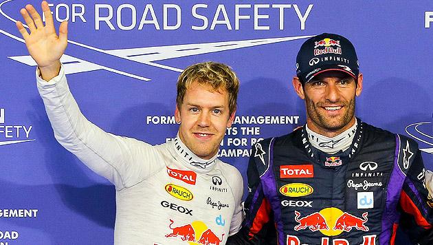 Webber holt sich Poleposition vor Vettel (Bild: EPA)