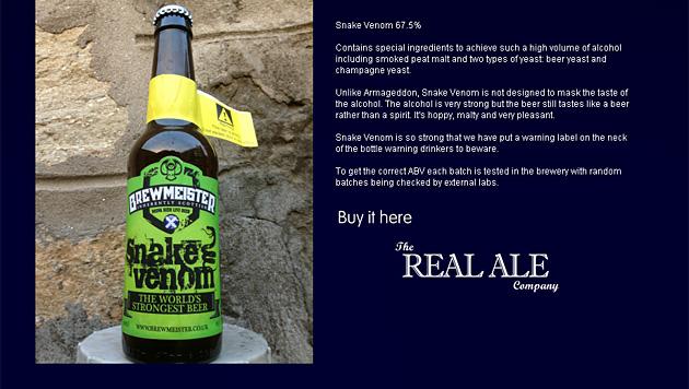 Schotten brauen stärkstes Bier der Welt (Bild: Screenshot/brewmeister.co.uk)