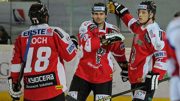 Eishockey: Österreich bezwingt Slowenien 2:0 (Bild: APA/Robert Parigger)