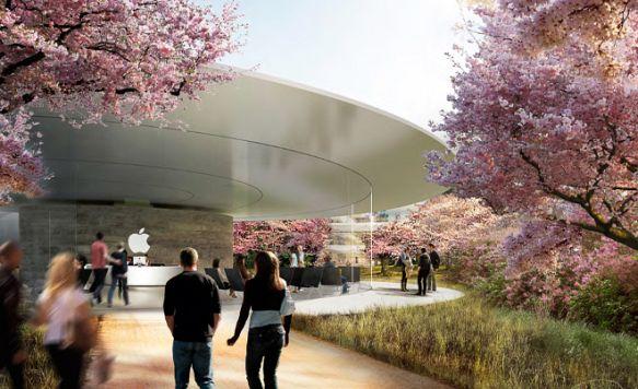 """Apple zeigt das Innere seines """"Raumschiffs"""" (Bild: Der Besuchereingang)"""