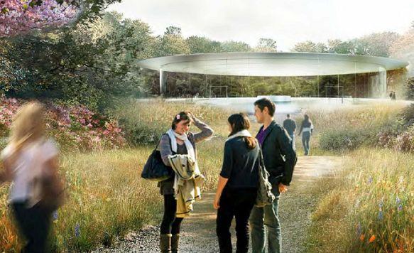 """Apple zeigt das Innere seines """"Raumschiffs"""" (Bild: Weitere Ansicht des Pavilions)"""
