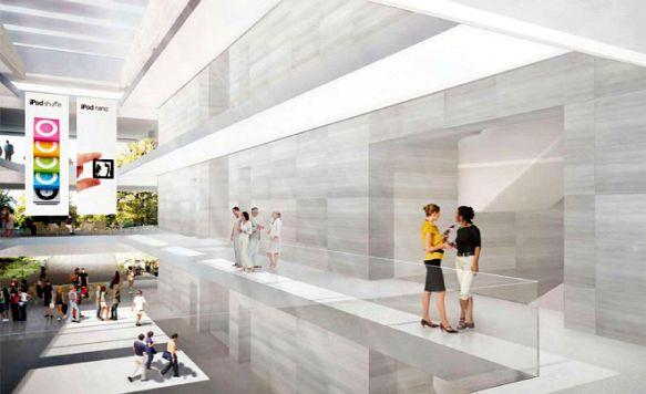 """Apple zeigt das Innere seines """"Raumschiffs"""" (Bild: Hell und geradlinig: Das neue Apple-Hauptquartier von innen)"""