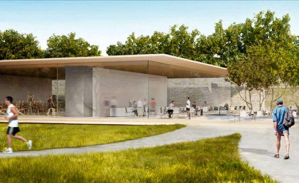 """Apple zeigt das Innere seines """"Raumschiffs"""" (Bild: Für die Mitarbeiter gibt es ein eigenes Fitness-Center)"""