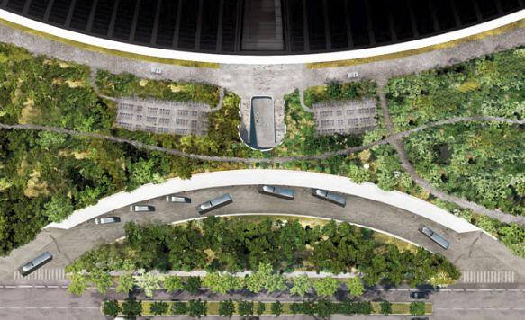 """Apple zeigt das Innere seines """"Raumschiffs"""" (Bild: Das Transit-Center aus der Vogelperspektive)"""